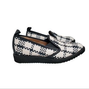 New Everlane Woven Street Shoe Black White